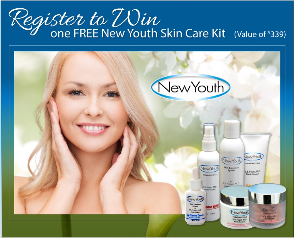 Register to win free skin care